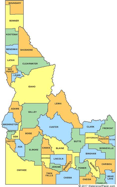 printable map idaho printable idaho maps state outline county cities