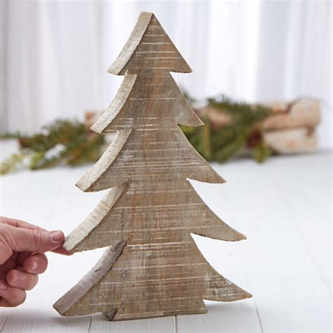 rustic wood tabletop christmas tree christmas