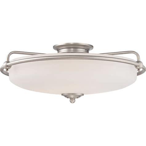 flush mount light on sloped ceiling quoizel gf1621an antique nickel griffin 4 light 21 quot wide