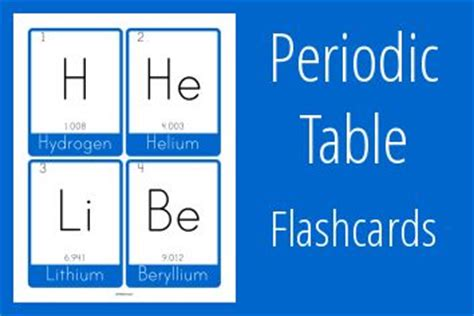 printable periodic table flash cards pinterest the world s catalog of ideas
