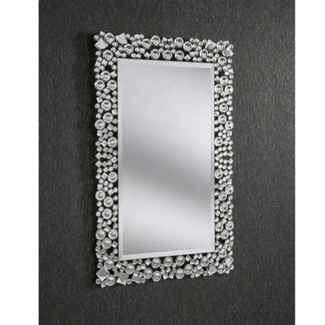 decorative crystal rectangular wall mirror homesdirect