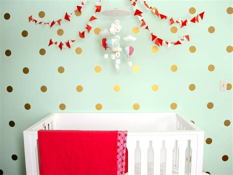 gold dot wall decals readers favorite mint coral and gold nursery project