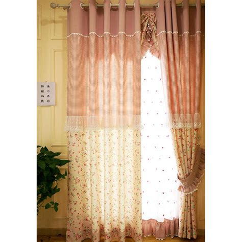 gingham nursery curtains pink gingham lace princess beautiful pastoral nursery curtains