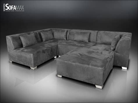 faux suede sofa max fabric faux suede grey 2 chair 2 corner 1 footstall
