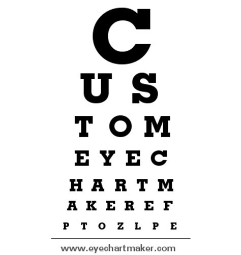 free printable eye chart maker 17 best images about visual acuity charts on pinterest