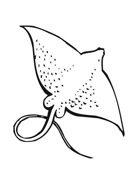 Dibujos para colorear: Raya, manta imprimible, gratis