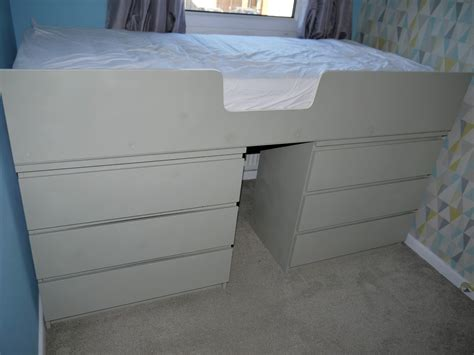 malm bed hacks ikea malm drawer hack to single bed renovation bay bee
