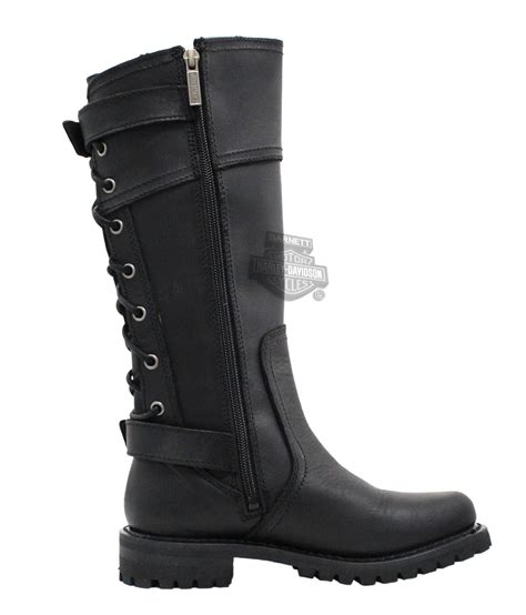 womens harley riding boots 85167 harley davidson 174 womens alexa black high cut