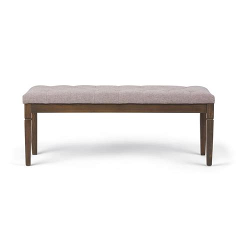 simpli home waverly tufted ottoman bench simpli home waverly cloud grey tufted ottoman bench 3axcot