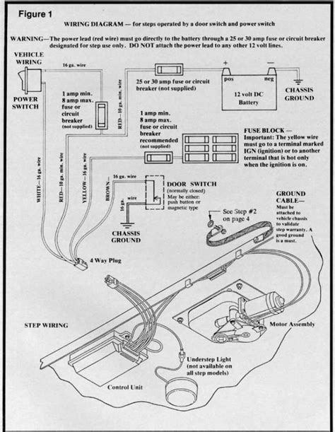 kwikee electric step wiring diagram stromberg carlson step
