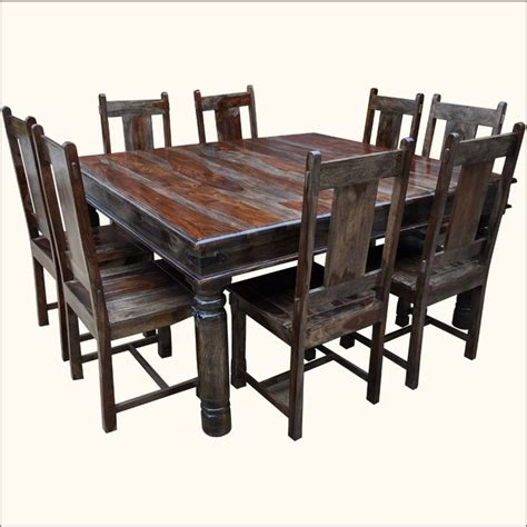 rustic square solid wood furniture large dining room table rustic square large solid wood furniture dining table