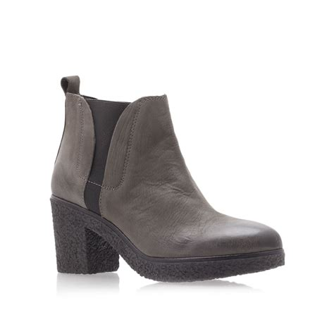 carvela boots for carvela kurt geiger stitch ankle boots in brown lyst