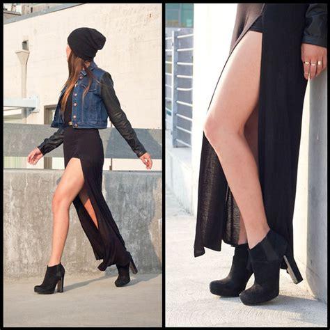 marilyn n forever 21 high slit maxi skirt guess