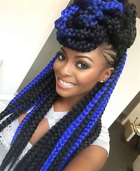 Box Braid Hair Type by 79 Sophisticated Box Braid Hairstyles With Tutorial