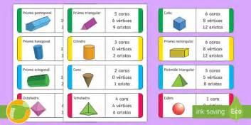 figuras geometricas vertices aristas y caras tarjetas educativas las propiedades de las figuras 3d