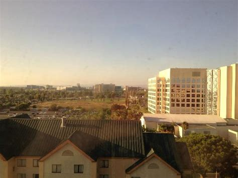Garden Grove Ca Marriott Looking Out Of Our Suite Toward Disneyland Picture Of