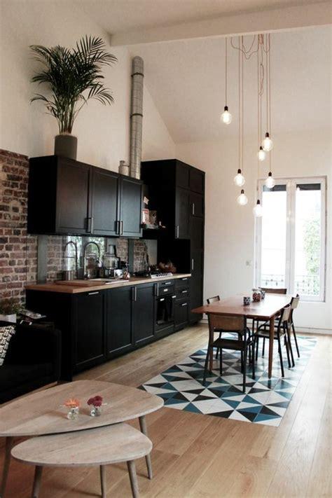 Superbe Idee Couleur Salon Salle A Manger #1: deco-salle-a-manger-sol-en-parquet-d%C3%A9co-appartement-%C3%A9tudiant-meubles-salle-de-cuisine.jpg