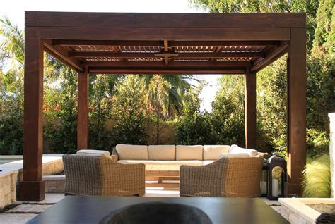 Moderne Pergola by Modern Louvered Garden Pergolas Custom Made From Redwood
