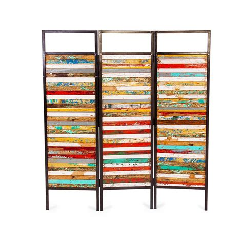 reclaimed wood divider ecochic lifestyles 67 quot x 60 quot luna sea 3 reclaimed wood
