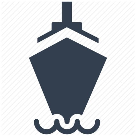 boat front icon boat cruise front view sail ship shipping tourism