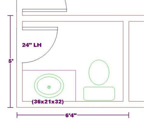 tiny  bathroom floor plan   foot vanity cabinet