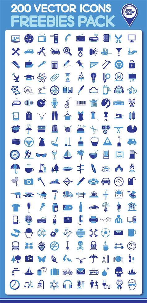 free download 200 vector icons webdesigner depot