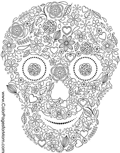 halloween coloring pages advanced advanced coloring pages halloween skull coloring page