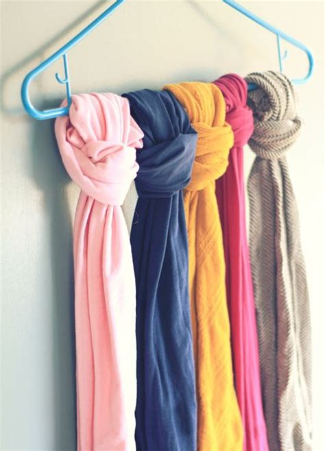9 great ways to store and organize your scarf collection