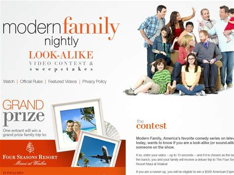 Modern Family Sweepstakes - modern family look alike video contest and sweepstakes limited cities
