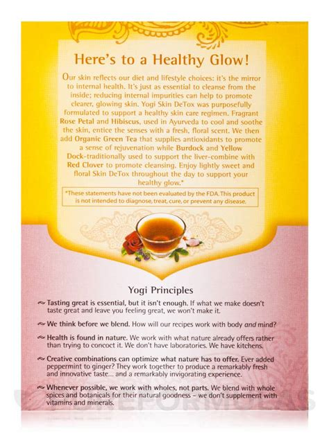 Yogi Skin Detox Reviews by Skin Detox Tea 16 Tea Bags