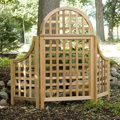Cedar Garden Trellis Andover 5 Ft Cedar Wood Arch Trellis The Andover
