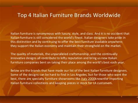 top italian furniture brands in usa top 4 italian furniture brands worldwide