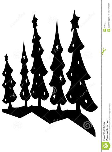 193 rboles de navidad silueta imagen de archivo imagen 7106161