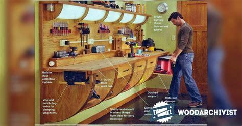 wall hung workbench plan woodarchivist