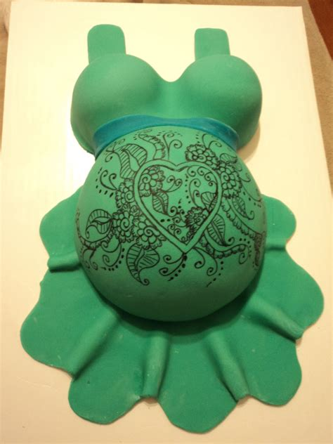 henna tattoo and showering baby bump shower cake with henna my