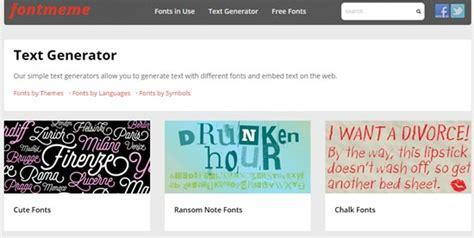 Text Meme Maker - 15 amazing free font generator online