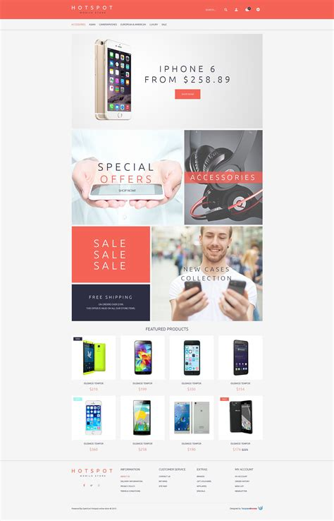 mobile themes opencart mobile phones opencart template