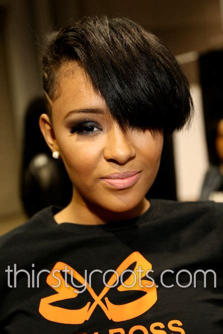 side shave hairsstyle american shaved side haircut black woman