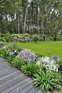 un jardin breton d agapanthes et d hortensias bleus les