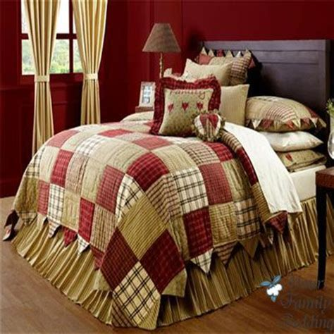 oversized quilts for king beds details about red country patchwork twin queen cal king