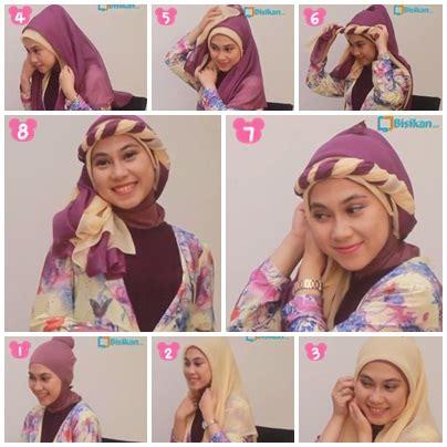 tutorial hijab lapis untuk pesta tutorial hijab untuk pesta pernikahan 1