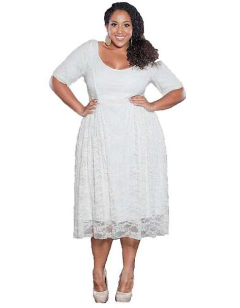 Dress Yachtien white plus size cocktail dresses 2018 plus size
