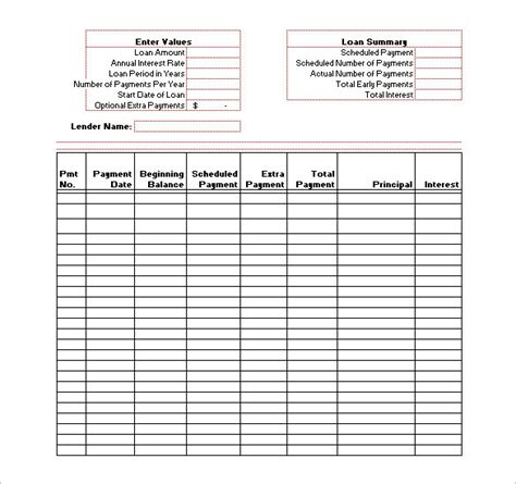 amortization template blank staffing schedule template templates resume