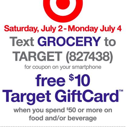 Target 10 Gift Card When You Spend 50 - target 10 gift card when you spend 50 on groceries 7 2 7 4