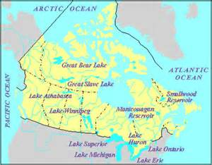 lakes in canada map great lake the canadian encyclopedia