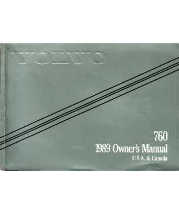 1989 Volvo 760 Owners Manual