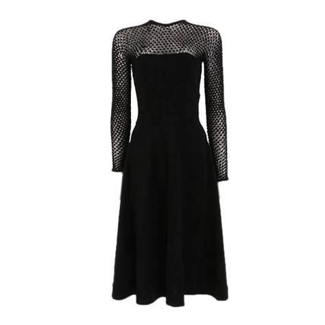 Id 351 Crochet Set Topskirts Black 1940 s 1950 s black knit and crochet dress at 1stdibs