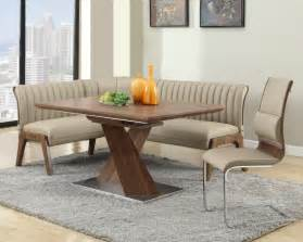 Kitchen Breakfast Nook Furniture this is a stunning contemporary large corner breakfast nook dining set