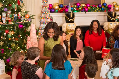 michelle obama white house christmas designers the white house was decorated by a boston company boston magazine