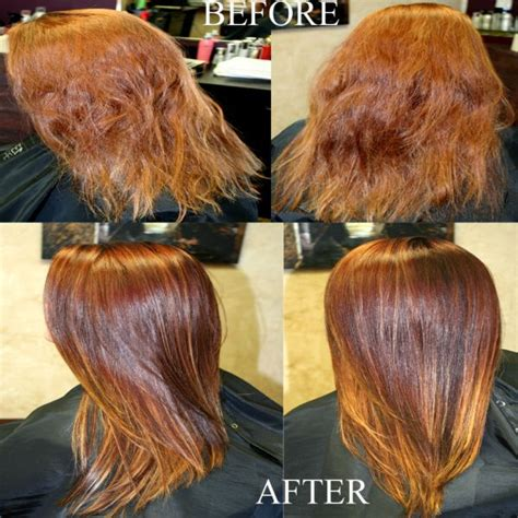 this beautiful hair color was created by foiling the top using kenra professional s quot seamless diffusion quot flat
